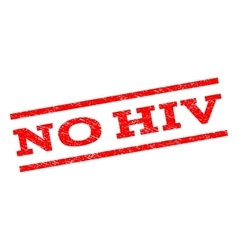 No hiv watermark stamp vector
