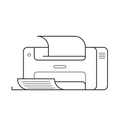 Printer line art simple gadget icon vector