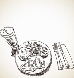 Sketch of food vector
