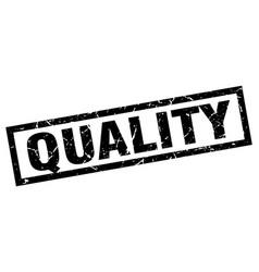 Square grunge black quality stamp vector