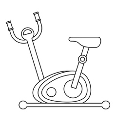 Stationary exercise bike icon outline style vector
