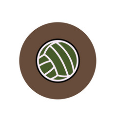 Stylish icon in color circle volleyball ball vector