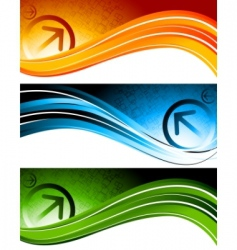 technology banners vector image vector image