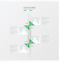 Timeline green gradient color vector