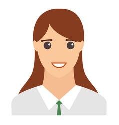 woman smiling portrait modern avatar flat design vector image vector image
