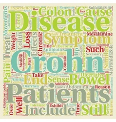 Crohn s disease explained text background vector