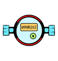 Water meters icon cartoon vector