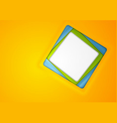 Abstract corporate background with blank square vector