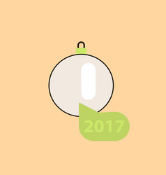 new 2017 year christmas ball vector image