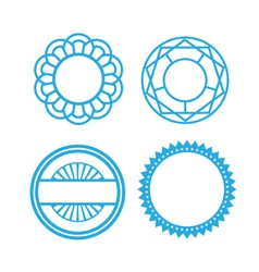 Set of circle pattern icons vector