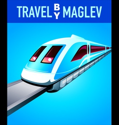 Travel by maglev train vector