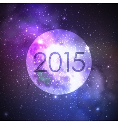 Happy new 2015 year abstract background with night vector