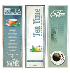Menu for restaurant cafe bar coffeehouse tea house vector