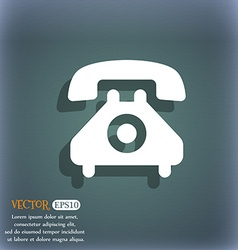 Retro telephone handset icon symbol on the vector