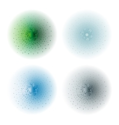 Paint spray effectgreen aqua ice blue silver vector