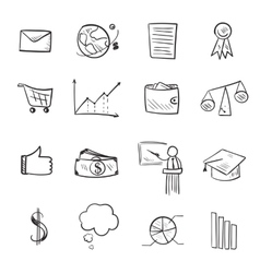 Isolated line web icons set vector