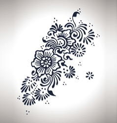 Flower henna design vector