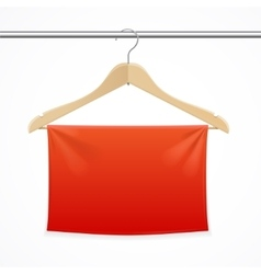 Hanger fabric background vector