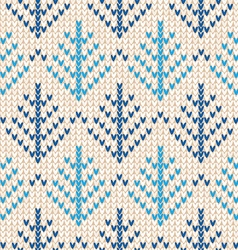 Christmas scandinavian flat style white and blue vector