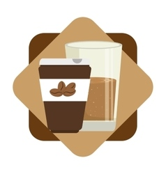 Coffee drink and shop vector