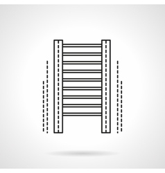 Wall bars gym flat line icon vector