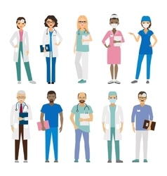 Hospital medical staff vector