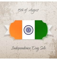 India independence day paper tag vector