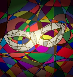 abstract background white carnival mask vector image vector image