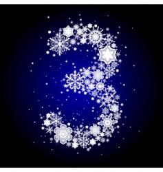 alphabet snow vector image