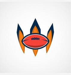 American football logo template college logos vector