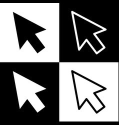 Arrow sign black and white vector