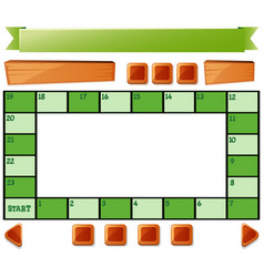 Boardgame template and buttons vector