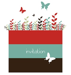 Butterflies and spring leaves background vector image vector image