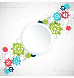 cogwheel hi-tech digital technology and vector image vector image