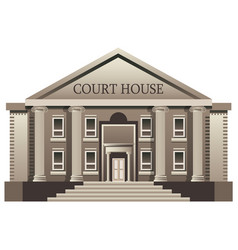 court house isolated vector image vector image