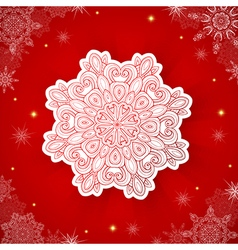 Decorative red Christmas background vector image