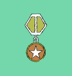 Flat shading style icon military medal vector