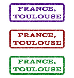 France toulouse watermark stamp vector
