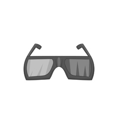 Glasses for 3d movie icon black monochrome style vector image vector image