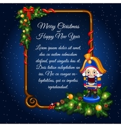 Greeting card with retro soldier and sample text vector image