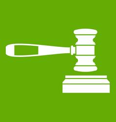 judge gavel icon green vector image vector image