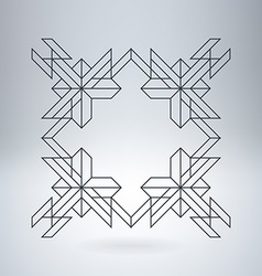 Line Geometric Hipster border for Logotype Banner vector image vector image