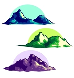 Low polygonal mountains vector