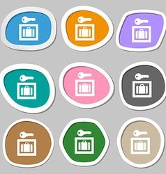 Luggage Storage icon symbols Multicolored paper vector image