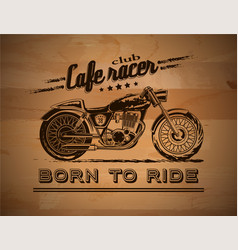 Motorcycle graphic banner vector