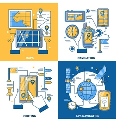 Navigation 2x2 Design Concept vector image
