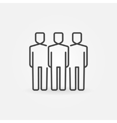People line icon vector