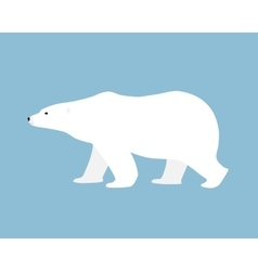 Polar bear hand drawn flat style vector