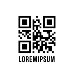 Qr code with encrypted text lorem ipsum vector