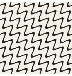 Seamless hand drawn rough diagonal wavy vector